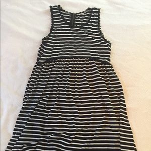 Sundress! High/low! Black and white stripe!